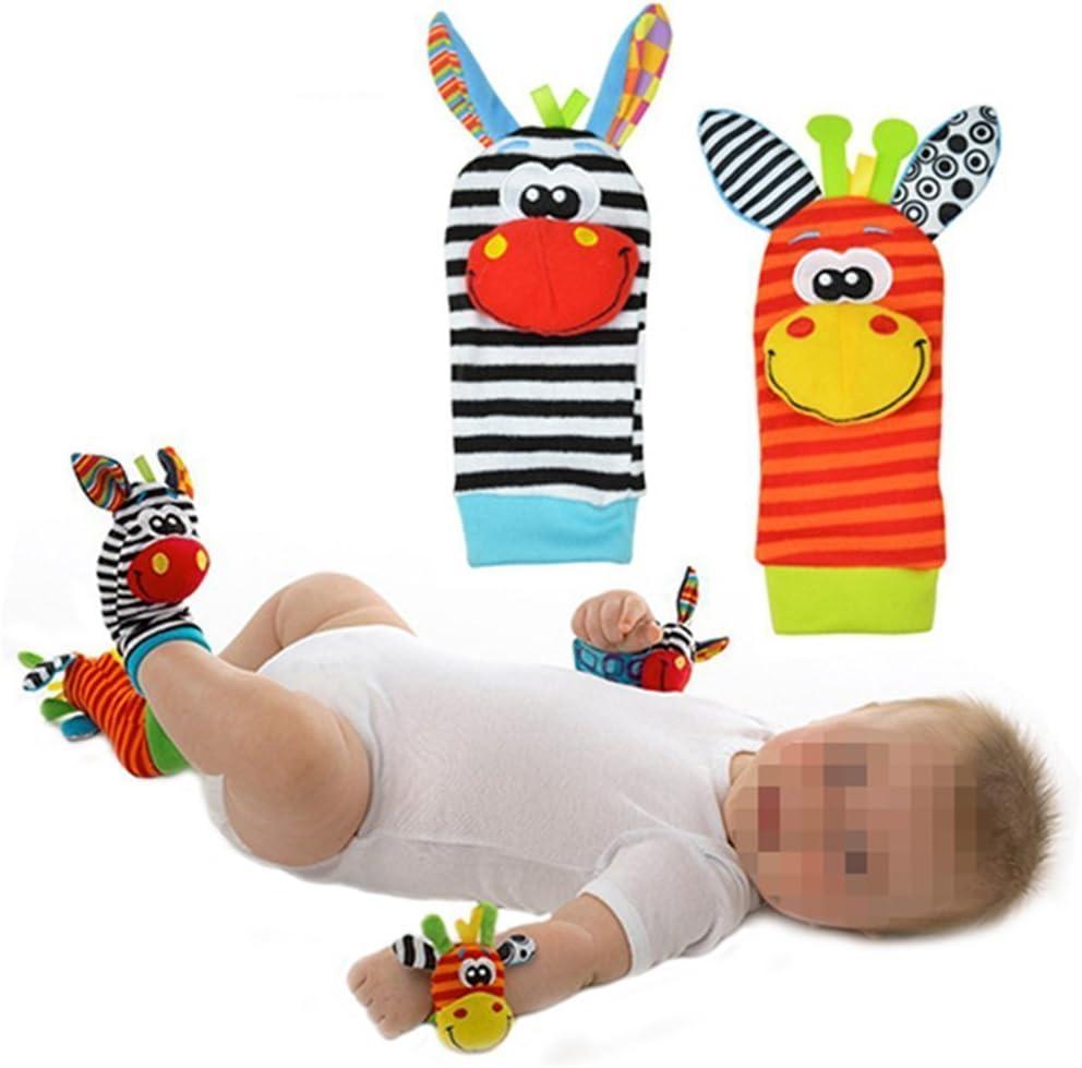 1par de Calcetines de bebé parte Calcetines/sonajero Calcetines, divertida de peluche, diseño de animales