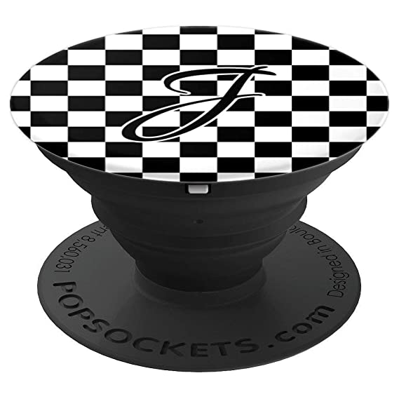 Amazon Com Checkered Letter J Monogram Personalized Initial Black