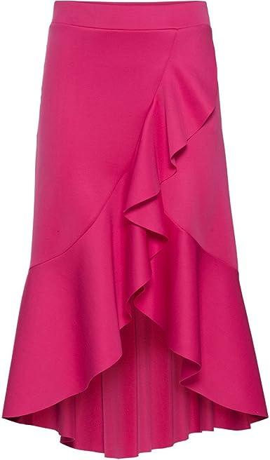 Faldas de Cintura Alta para Mujer, Dobladillo Irregular de Moda ...