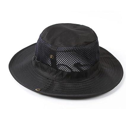 HaHapo New Hot Men Summer Beach Hat Fashion Outdoor Cap Sun Protective Barrel
