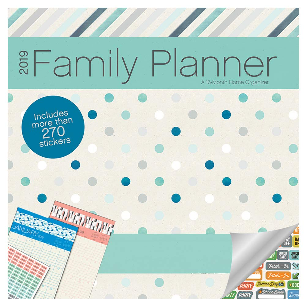 photograph regarding Family Planner Calendar named Spouse and children Wall Calendar 2019 Established -- Luxurious 2019 Active Family members Wall Calendar with Above 100 Calendar Function Stickers (Mothers Household Planner Package deal)