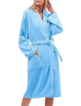 a5f35d6fa5 Find Dress 10040 Robe Pakistan Cotton Soft Water Absorption Bathrobe M Blue