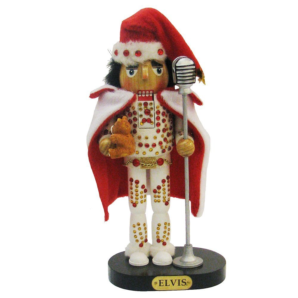 Elvis Presley Kurt Adler Elvis in White Suit Nutcracker, 10-Inch