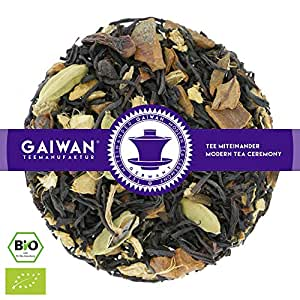 "Núm. 1206: Té negro orgánico""Chai Negro"" - hojas sueltas ecológico - 250 g - GAIWAN GERMANY - cassia, té negro de la India, cardamomo, pimienta negra, jengibre, clavel"