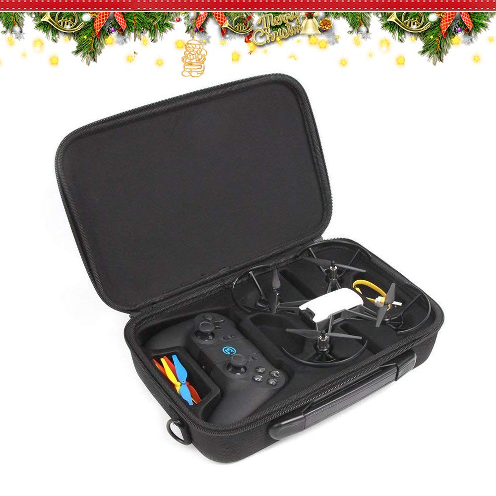 RDtech DJI Tello Carrying Case Shockproof Waterproof Portable Shoulder Bag for DJI Tello Drone with Gamesir T1D Gamepad Remote Controller