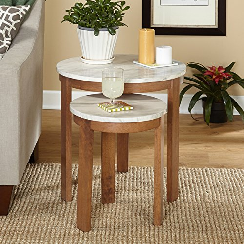 Simple Living Edina Nesting Tables (Set of Two) - 2 Piece Nested Accent Tables