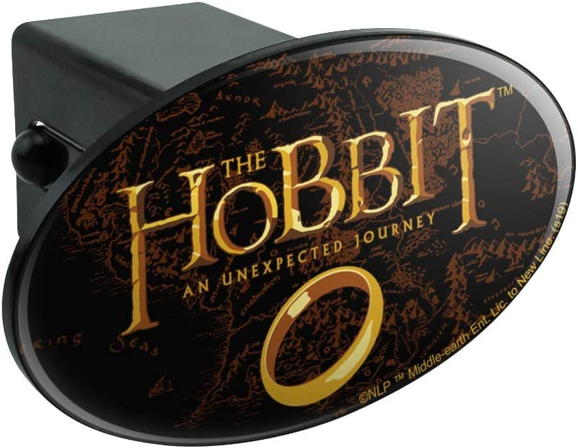 Graphics and More The Hobbit an Unexpected Journey Logo Oval Tow Trailer Hitch Cover Plug Insert