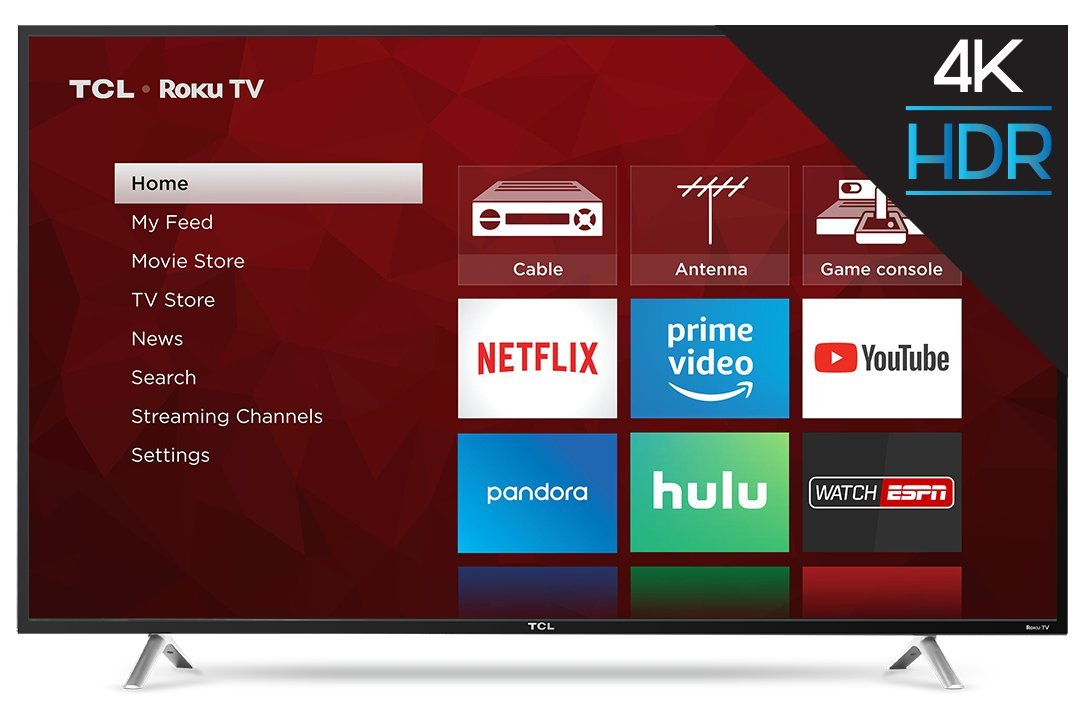 TCL 55S405 55-Inch 4K Ultra HD Roku Smart LED TV...