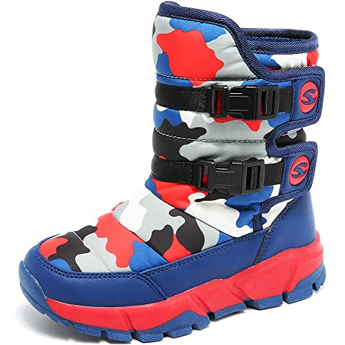 ddb8b3f47 Boys Winter Boots Girls Snow Boots Waterproof Boots Kids Warm Fur Lined  Boots Outdoor Indoor Hiking