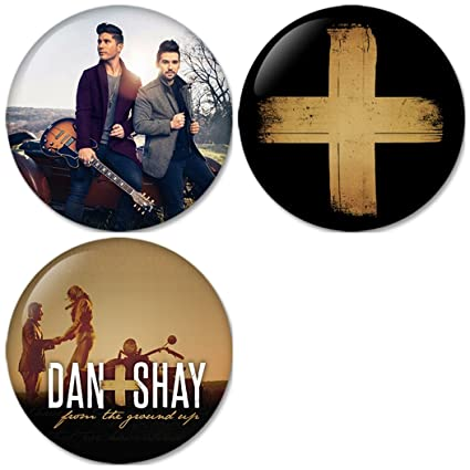 5791ff9bf9 Amazon.com: Dan + Shay : From the Ground Up Pinback Buttons Badges/Pin 1.25  Inch (32mm) Set of 3 New: Everything Else