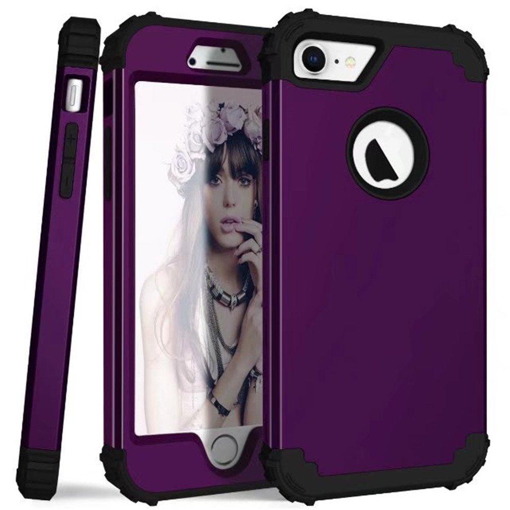 iPhone 8ケース、ファッション3層マルチカラーヘビーデューティディフェンダーハイブリッドTPU + PCバンパー耐衝撃保護カバーiPhone 8用   B07H4HWFJF