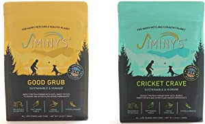 Jiminy's Dog Food 2 Pack Bundle   100% Made in The USA   Gluten-Free   Limited Ingredients   Cricket Crave   Insect Protein   Hypoallergenic