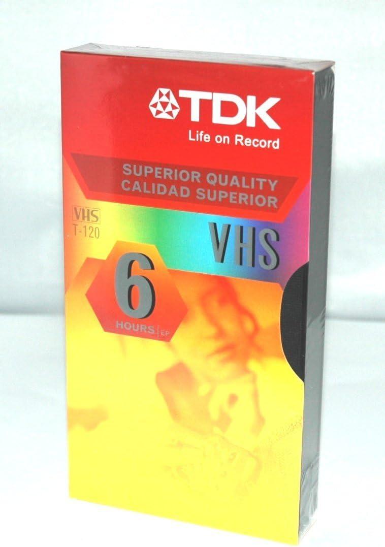 TDK T-120 VHS Cassette - 6 Hour