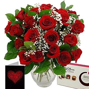 Clare Florist Promised Roses Fresh Flower Bouquet Gift Set