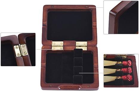 Muslady Caja de Caña de Fagot Madera Para 3 piezas Reeds: Amazon.es: Instrumentos musicales
