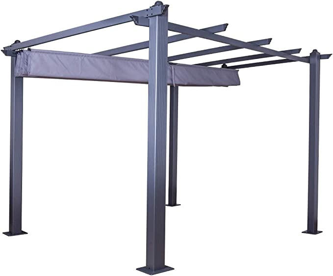 IMS GARDEN Carpa/Pergola Aluminio 3 X 3 M Lienzo Deslizante rétractable-Gris Anthracite-Hero, cn-20015gg: Amazon.es: Jardín