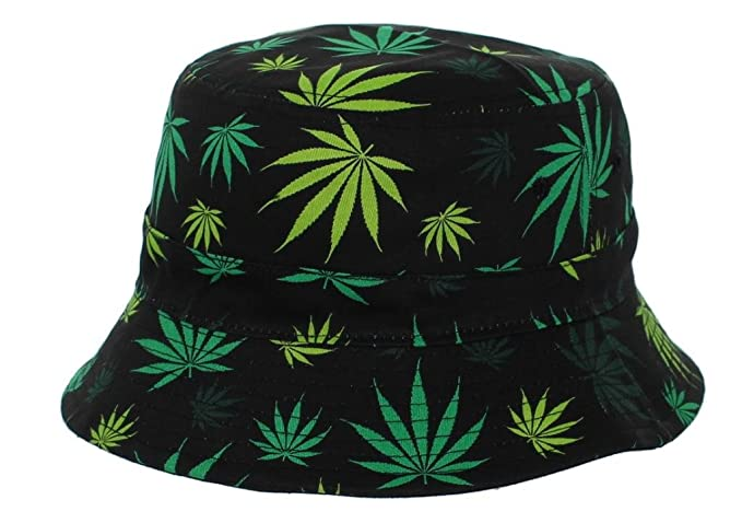 20e10f152da All Over Print Green Mary Jane Weed Bucket Hat at Amazon Men s Clothing  store