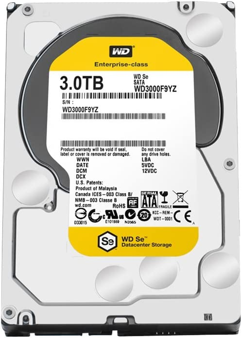 5 Years Warranty Enterprise Hard Drive Western Digital Se WD3000F9YZ 3TB 7200RPM 64MB Cache SATA 6.0Gb//s 3.5 Datacenter Storage Renewed