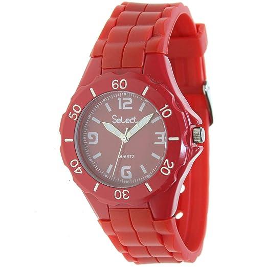 Select Fr-29-6 Reloj Analogico para Mujer Caja De Metal Esfera Color Rojo: Amazon.es: Relojes