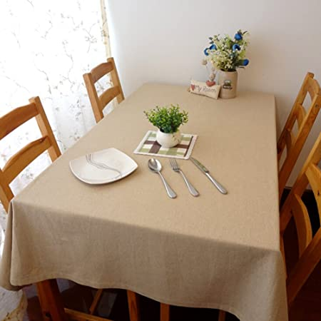 plain linen dining room tablecloth vintage tablecloths table covers rh amazon co uk dining room table bench seat covers dining room table covers protectors