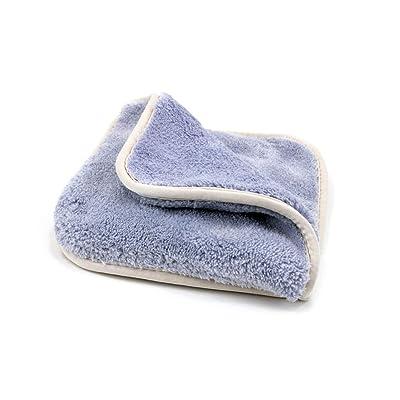 "[Double Flip] Microfiber Rinseless Wash Towel 8""x8"" Blue - 3 Pack (Light Blue): Automotive"