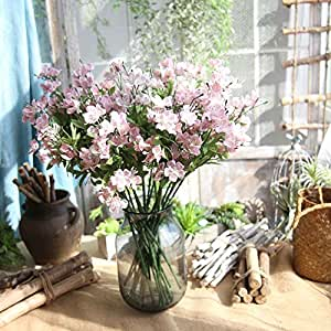 Amazon artificial flowers fake flowers silk plastic artificial artificial flowers fake flowers silk plastic artificial galsang flowers bridal wedding bouquet for home garden junglespirit Gallery