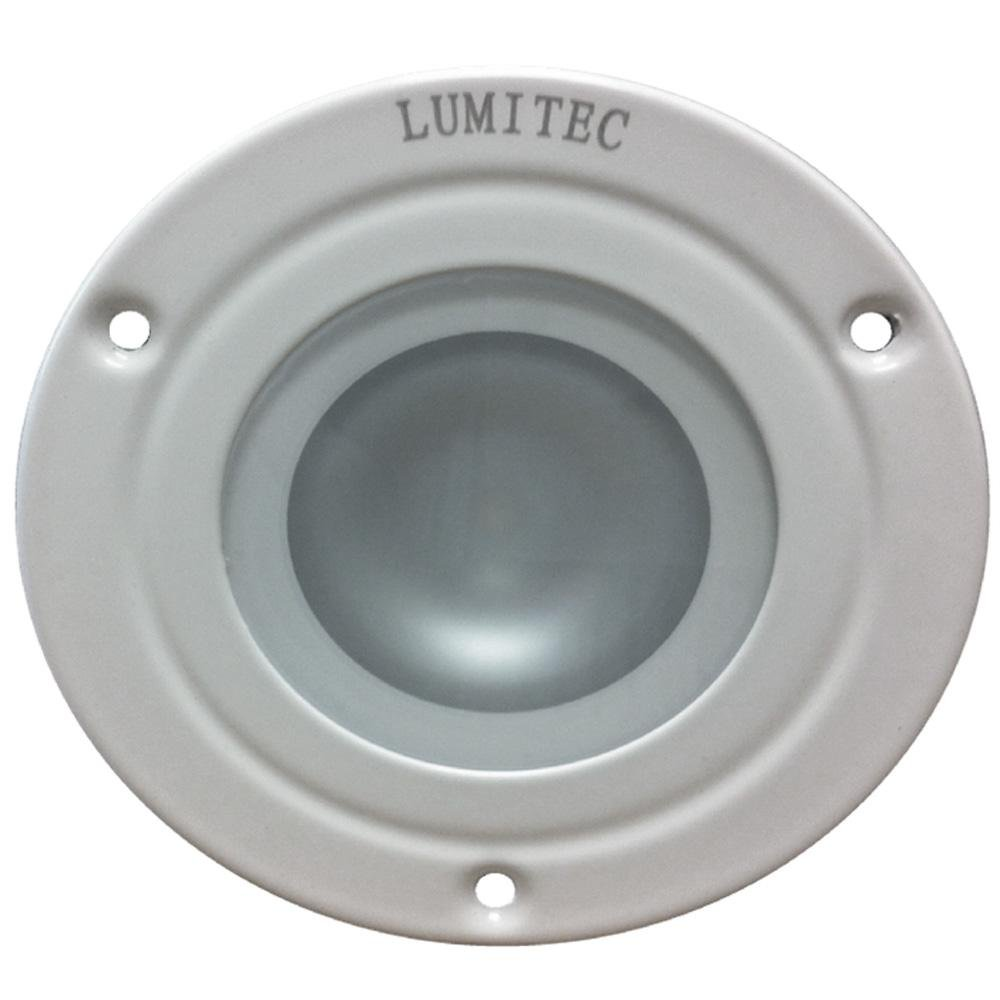 Lumitec Shadow Surface Mount Utility Light - 4 Color White, Blue, Red & Purple Light, White Bezel