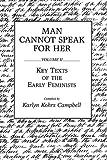 Man Cannot Speak for Her, Karlyn Kohrs Campbell, 0275932672