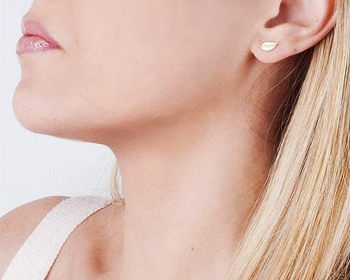 Push Back Earrings Jewelry Gift For Her Gold Leaf Stud Earrings Womens Earrings Grapes Aventurine Studs Minimalist Jewelry
