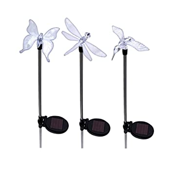 Solar Yard Lights LED Lawn, Pond And Garden Decorations And Accessories,  Dragonfly, Butterfly