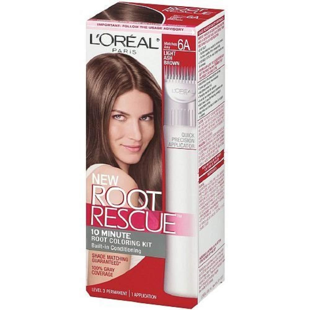 L'Oréal Paris Root Rescue Hair Color, Light Ash Brown 6A