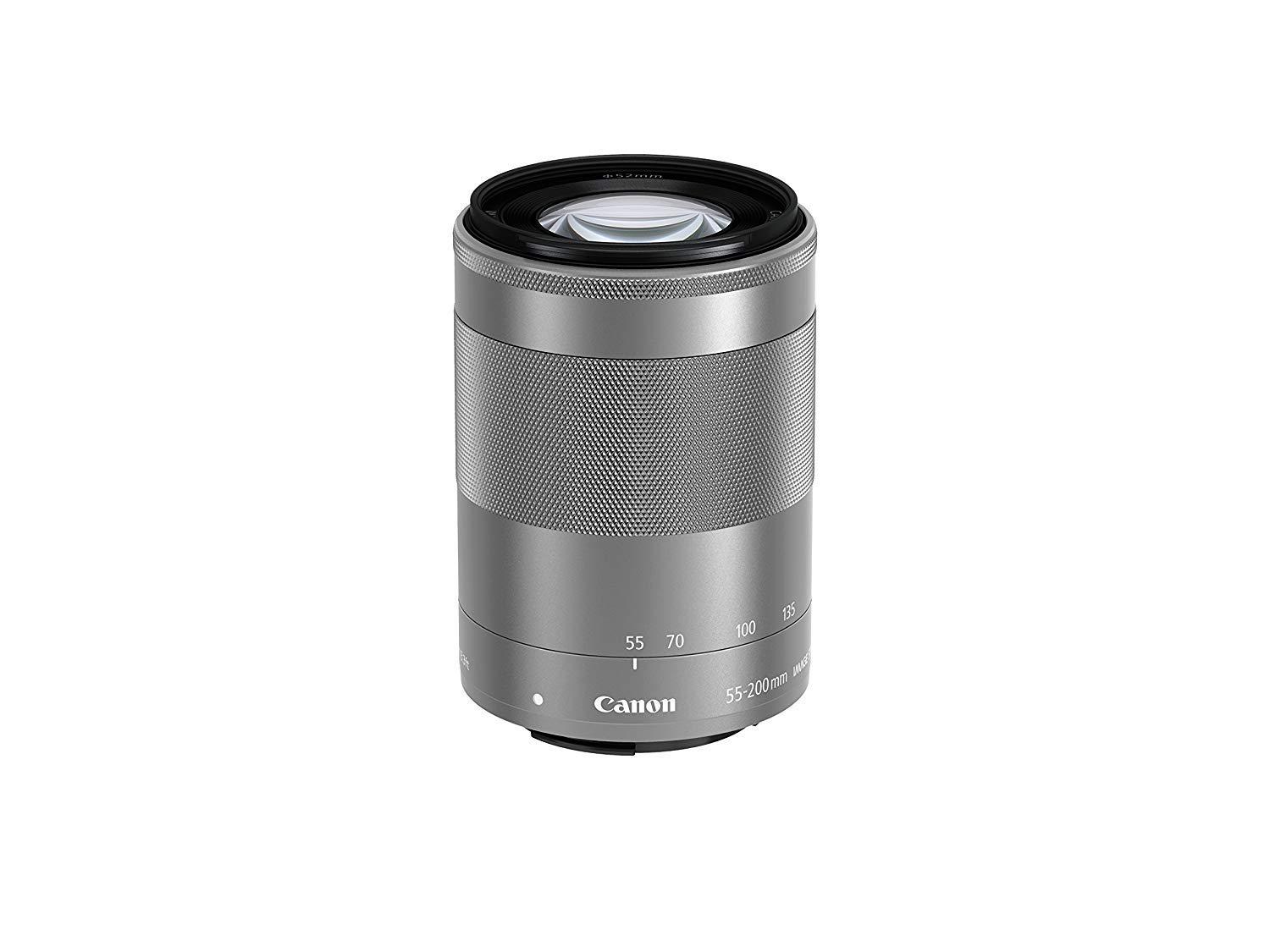 Canon EF-M 55-200mm f/4.5-6.3 Image Stabilization STM Zoom Lens (Silver) (Renewed) by Canon