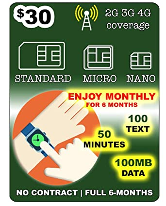 Amazon.com: Tarjeta SIM para reloj inteligente 3G 4G LTE GSM ...