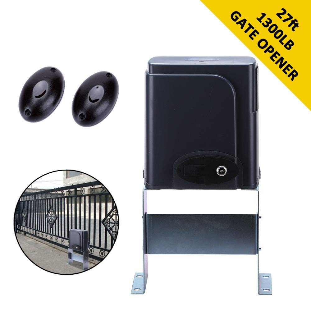 G.T.Master Sliding Automatic Gate Opener Kit - Driveway Security Door Operator Hardware Kit with Two Transmitters and Infrared Photocell Sensor for Sliding Gates up to 1300lb and 27ft Long (GT1300)