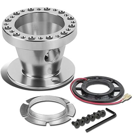 Amazon aluminum steering wheel 6 hole hub adaptor kit silver aluminum steering wheel 6 hole hub adaptor kit silver 200zx 240sx sciox Choice Image