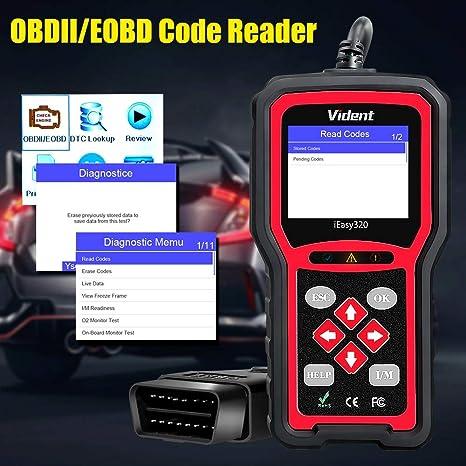 VIDENT iEasy320 Enhanced OBDII//EOBD+CAN Code Reader Scanner Muti-Languages