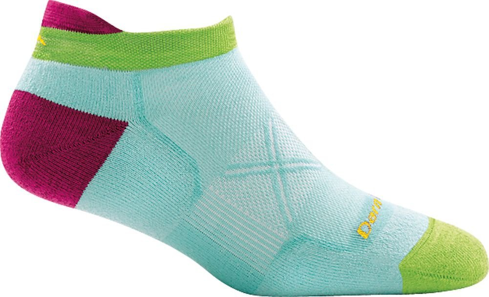 Darn Tough Vertex Coolmax No Show Tab Ultra-Light Cushion Sock - Women's Aqua Medium by Darn Tough (Image #2)