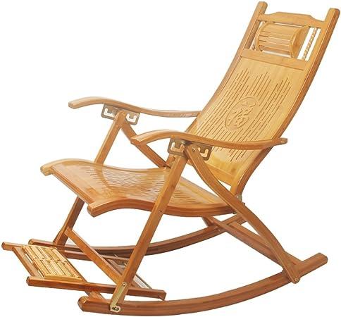 Fauteuil à bascule en bambou d\'extérieur Patio Chaise longue ...