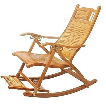 D'extérieur Longue Fauteuil Bascule Chaise De Patio À Bambou En rCWdBoxe