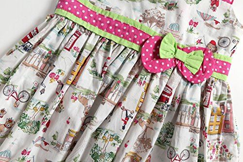 c8e7e1f91 Sharequeen Fairy World Printing Cotton Baby Kids Slip Dress Bowknot ...