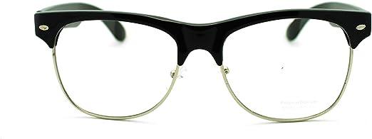 Mens Geek Nerdy Futuristic Sport Rectangular Plastic Frame Optical Eye Glasses
