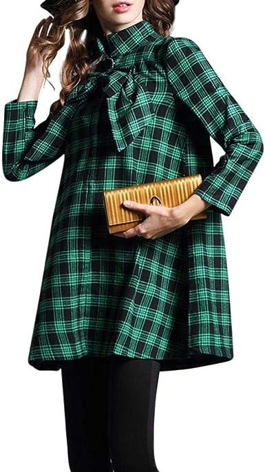 Lannister Fashion Camisas Mujer Cuadros Camisa De Manga Larga Ropa Primavera Otoño High Collar Blusas Manga Larga Tie-Bow Tallas Grandes Tops Camisa: Amazon.es: Ropa y accesorios