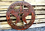 CCR Products Rusty Patina Texaco Gas Station Garage Sign Large 46″ Wall Petroleum Plasma Art