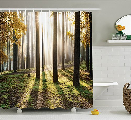 ambesonne Polyester-Decor Kollektion-Badezimmer Dusche Vorhang, Textil, Mehrfarbig 2, 69W x 70L sc_14250_Jazz_Music_05.31