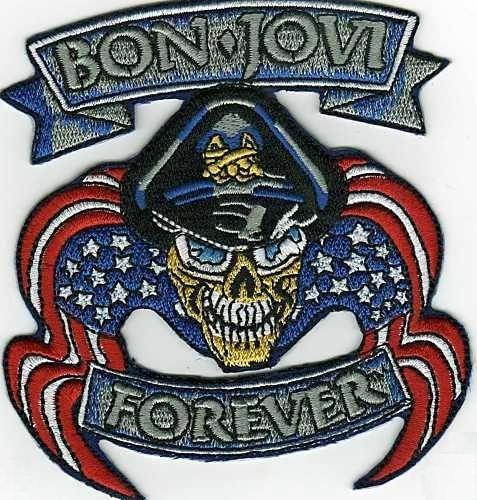 Bon Jovi Forever Embroidered Iron On Patch Music Emblem Aufnäher (Patch Jovi Bon)