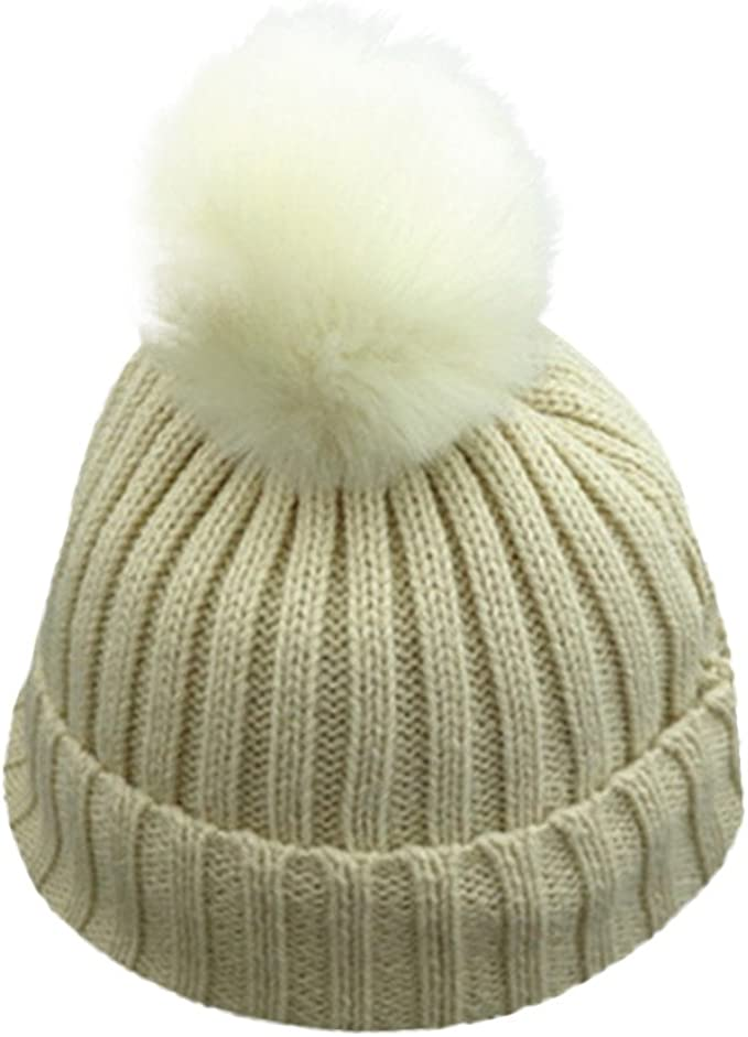 Baby Hat Pom Pom Bobble Winter crochet Warm Beanie Cap Boy Girl Unisex new born