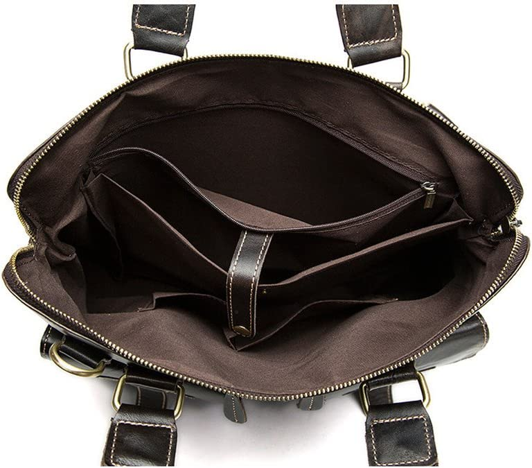 Men Briefcase Mens Briefcase Leather Mens Bag Vintage Leather Shoulder Messenger Bag Mens Tote Suitable for Business Casual Business Bag