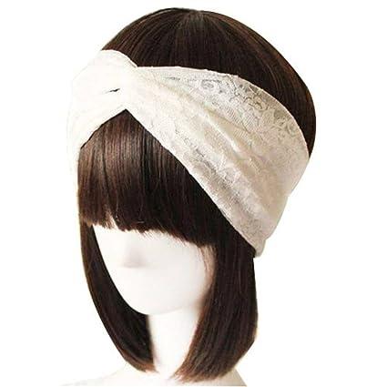 Encaje Retro turbante Twist pañuelo para la cabeza cinta ...