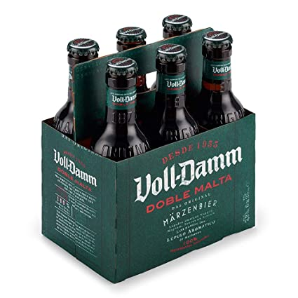 Voll Damm Doble Malta Cerveza - Pack de 6 x 25 cl - Total: 1