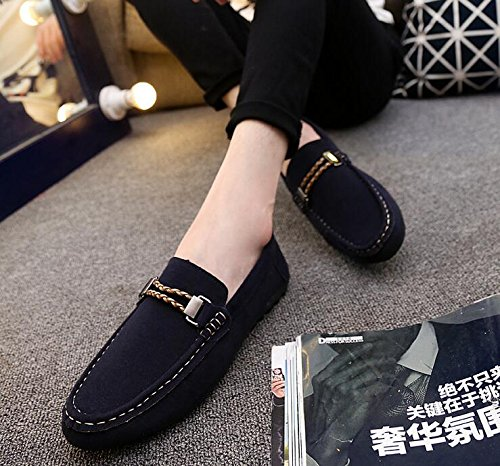 622fe2ec577 Image Unavailable. Image not available for. Color  6.5 Shoes Size New Hot fashion  suede men shoes soft leather flat shoes casual slip on
